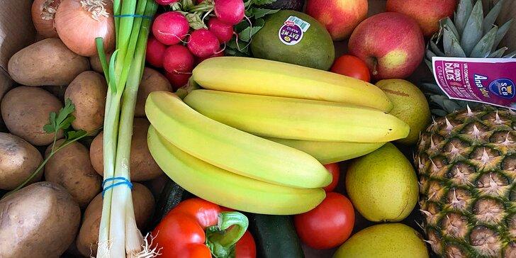 5–9 kg ovoce a zeleniny až k vám domů: převážně lokální dodavatelé, rozvoz do 30 km od Prahy