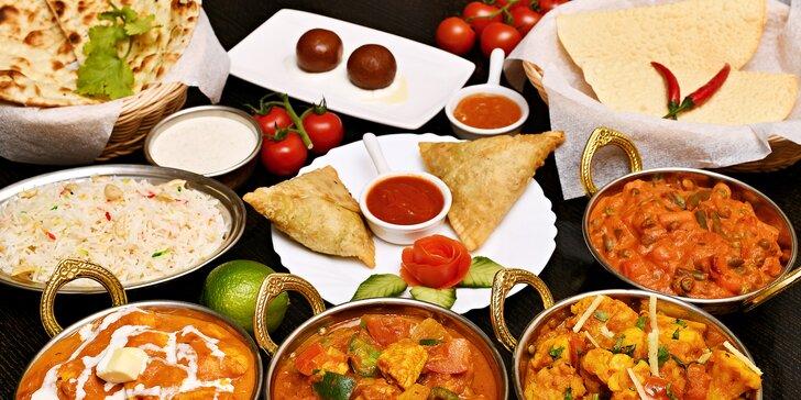 Malé či velké degustační indické menu pro dva: hlavní chody s kuřecím i vege