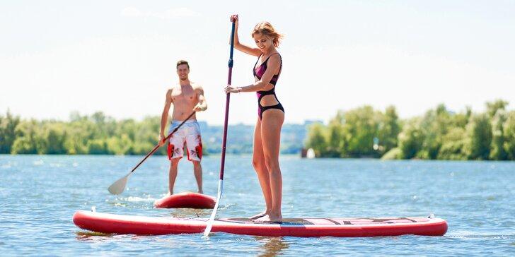 V Brně na vlnách: půjčení paddleboardu na 1 či 2 hodiny i celý týden