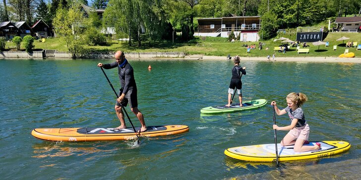 Zapůjčení paddleboardu na Žermanické přehradě pro 1 i 2 osoby na 2 hodiny