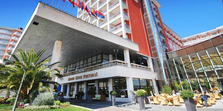 Dovolená ve slovinské Portoroži: 5* hotel u moře, s wellness a snídaní