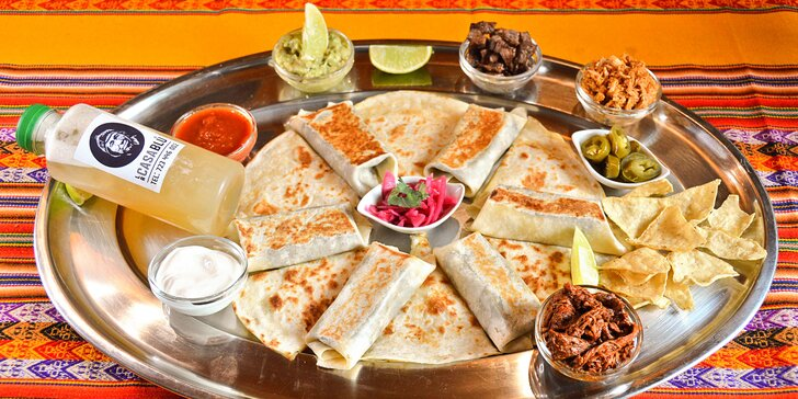 Mexické degustační menu na take away: quesadillas, mini burritos i koktejl Margarita