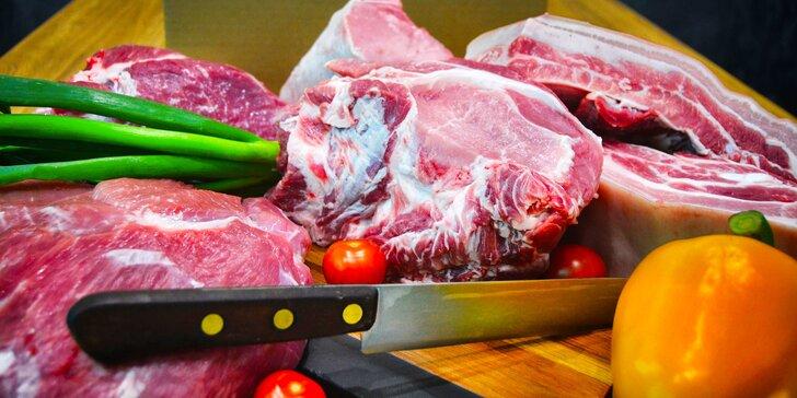 Farmářská bedýnka plná vepřového: 8 kg poctivého českého masa z vlastního chovu