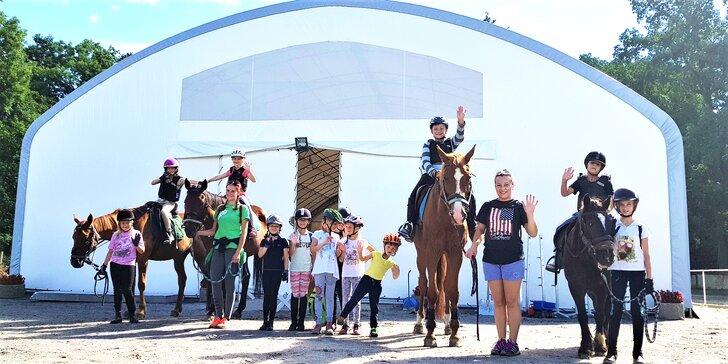 3hodinový workshop u koní pro děti od 5 do 12 let: péče o koně, jízda i teorie