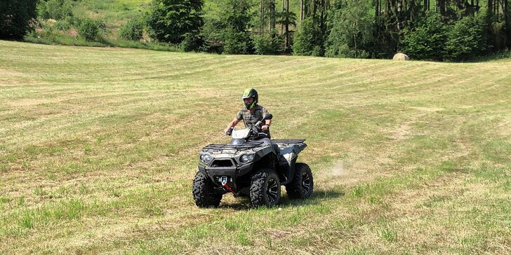 Adrenalinová jízda přírodou: jízda na čtyřkolce nebo motorce dle výběru