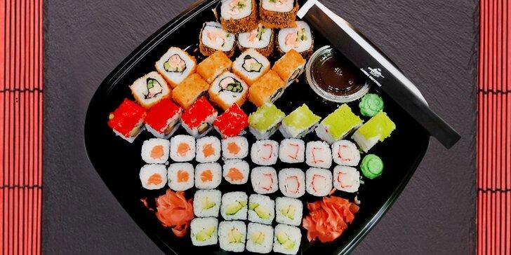 Dva vyladěné sushi sety kousek od centra Brna s možností odnosu s sebou