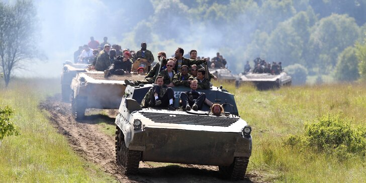 Půlhodinová akční jízda v obrněném transportéru BVP-1 pro 1 i 2 osoby