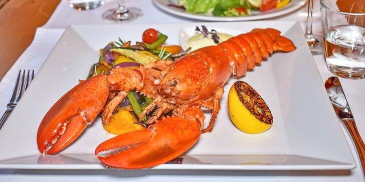 Degustační menu s kanadským humrem: mořské plody, variace španělských sýrů i čokoládový dezert
