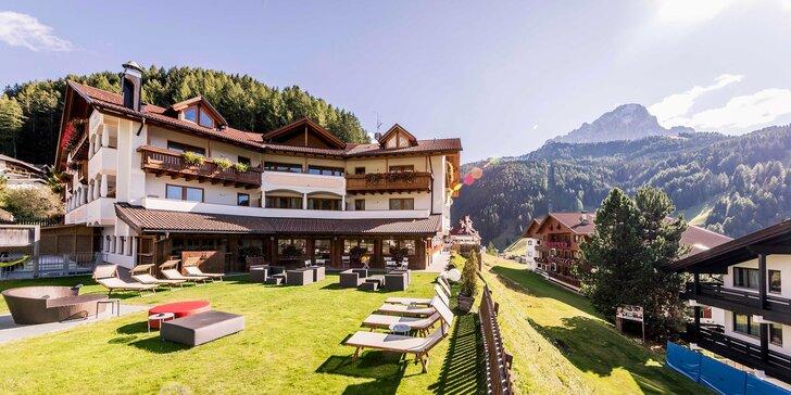Léto v italských Dolomitech: 4* hotel ve Val Gardena s polopenzí
