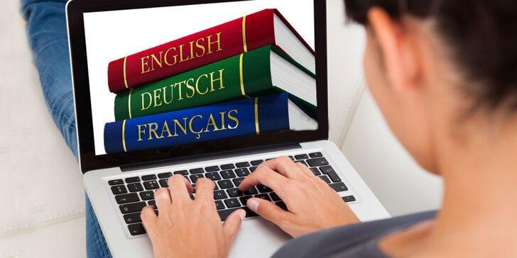 Konverzace angličtiny, němčiny, francouzštiny nebo španělštiny pro 1-4 osoby
