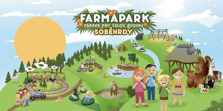Celodenní vstupenky do Farmaparku pro dítě či dospělého nebo pro celou rodinu