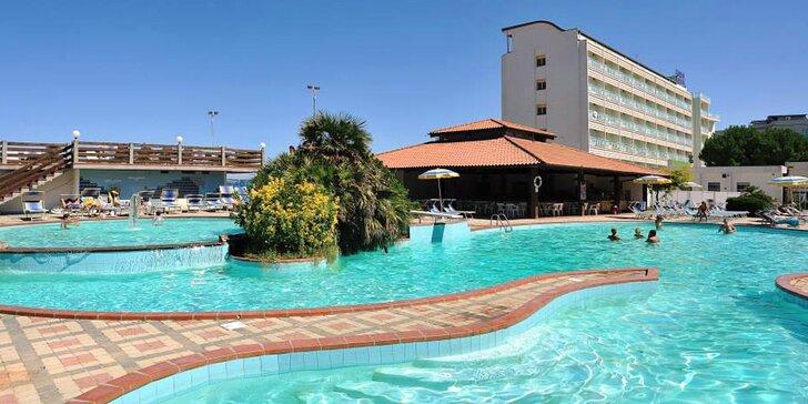3* pobyt v Itálii pro celou rodinu: ubytování s polopenzí plus, hotel přímo u pláže