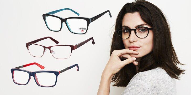 Brýlové obruby v hodnotě 1000 Kč a sleva na běžná či multifokální skla