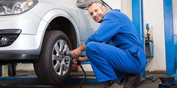Kompletní přezutí pneumatik včetně vyvážení a dohuštění