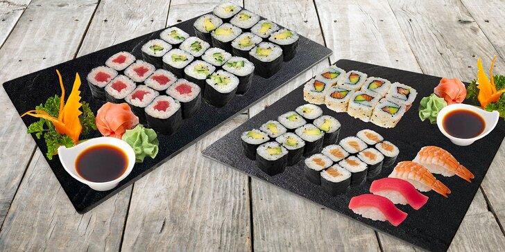 Pardubické Japonsko: sushi sety s 10–36 ks nigiri a maki rolek