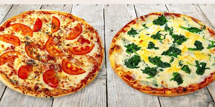 Pizza či dvě na odnos s sebou z centra Uherského Hradiště: ⌀ 32 cm, 20 různých druhů