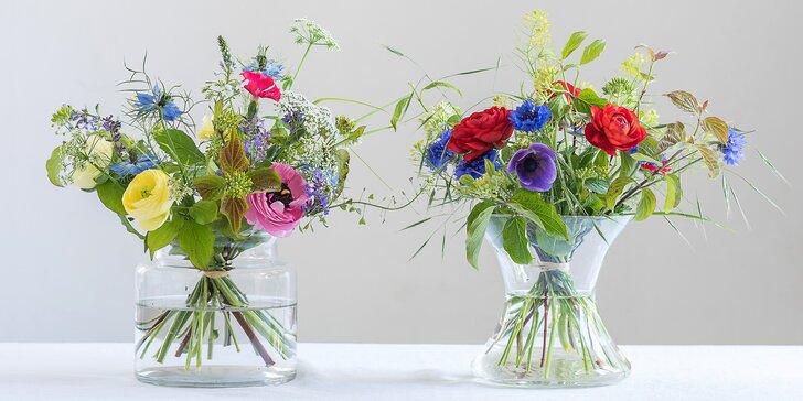 Lokální, ekologické a bez chemie: krásné vázané kytice vydrží až 2 týdny