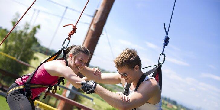 Adrenalin v lanovém centru s obří houpačkou: jednotlivý vstup i permanentky