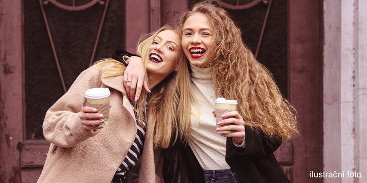 Dvě kávy z FreshWay podle výběru: cappuccino nebo latté s příchutí