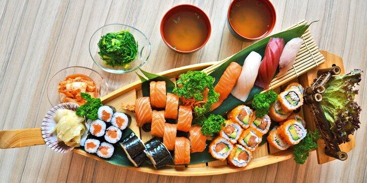 Pro milovníky asijské kuchyně: sushi sety s polévkou i salátem