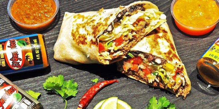 Mexické Taco Bonito v Brně: burritos, tacos nebo quesadilla s masem či vege i menu s nachos