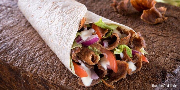 Pořádná dobrota: falafel nebo kebab v tortille, chlebu či s hranolky