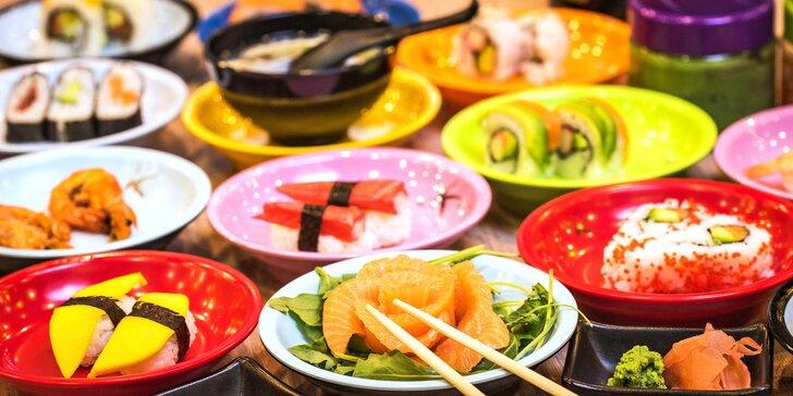 Running sushi: 2 hod. neomezené konzumace sushi a dalších asijských specialit
