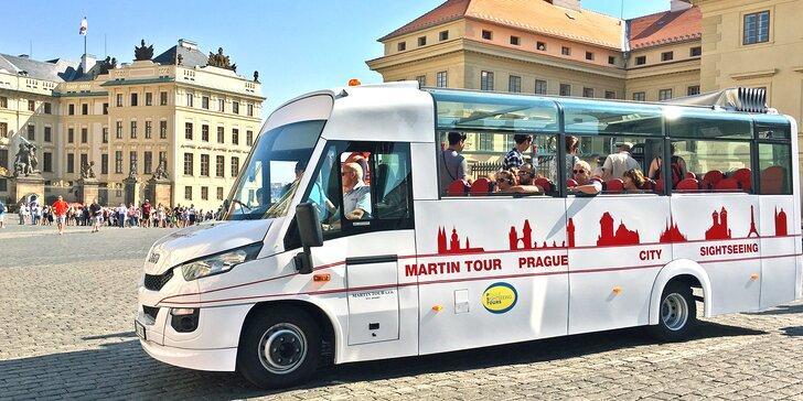 Okružní jízda Prahou: hodina v otevřeném autobuse a 1hod. projížďka lodí pro děti i dospělé