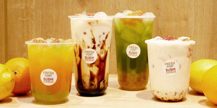 0,5l nebo 0,7l bubble tea dle výběru: ovocný či mléčný, s ledem i bez