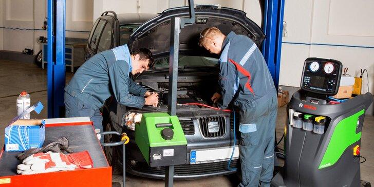 Servis auta: čištění a kontrola klimatizace, seřízení geometrie i světlometů a dezinfekce ozónem