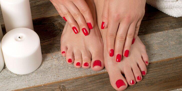 Balíčky péče o nohy a ruce: wellness pedikúra a manikúra s masáží i lakováním