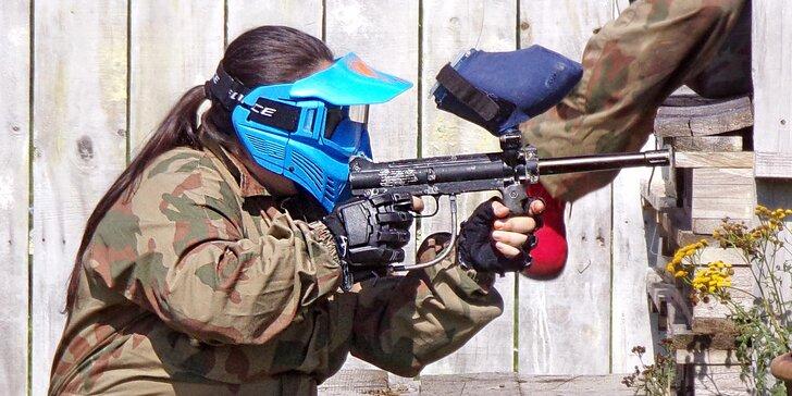 Paintball pro dospělé: přestřelka až ve 20 osobách, každému vybavení a 100 kuliček