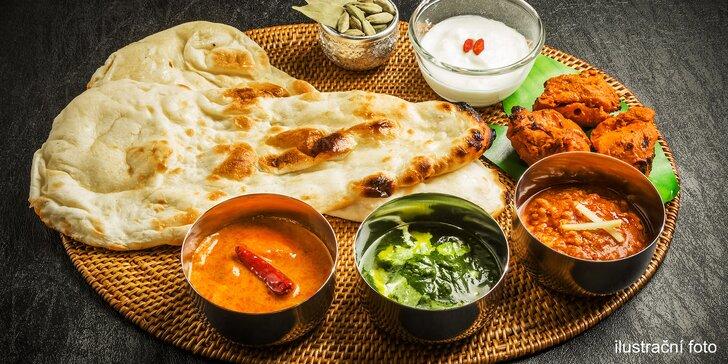 500 g jakéhokoliv jídla z bufetu v indickém bistru Al Karim