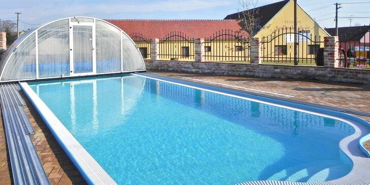 Léto na Jižní Moravě: polopenze a vstup do wellness s venkovním bazénem