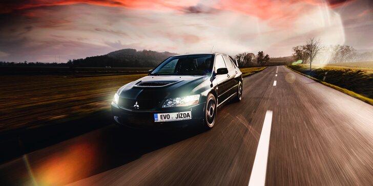 Ikona rally závodů Mitsubishi Lancer EVO IX: 15–60 min. řízení či spolujízdy