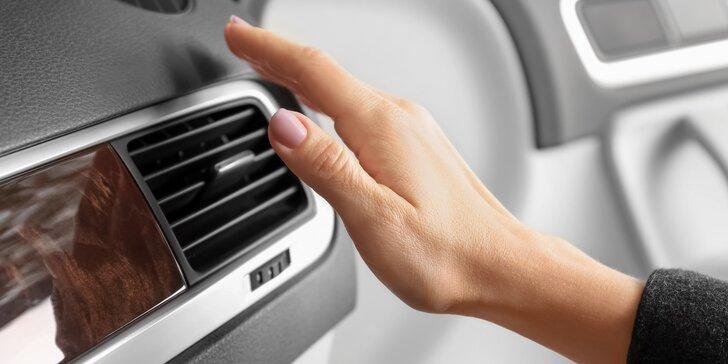 Kontrola a doplnění klimatizace i ozonové nebo ultrazvukové čištění