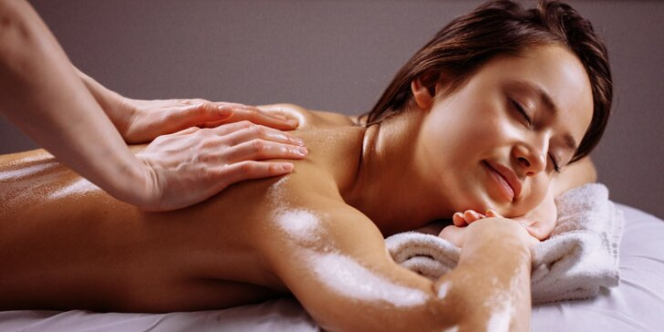 Výběr ze 6 druhů masáží: baňkování, havajská, zdravotní či lymfatická