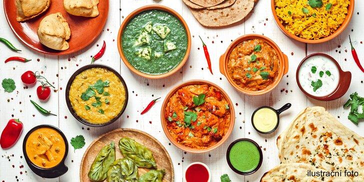 Indická restaurace Suraja: voucher na 500 či 700 Kč na jakákoliv jídla
