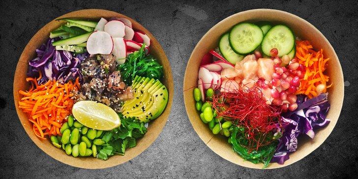 Poke bowl podle výběru s hovězím, tuňákem či lososem pro 1 i 2 osoby