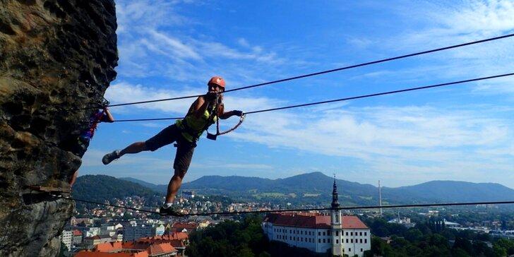 Via Ferrata: bezpečný adrenalin při horolezení v Děčíně