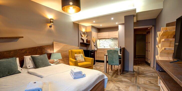 Luxusní apartmány v Jasné kousek od lanovky na Chopok, slevy do aquaparku