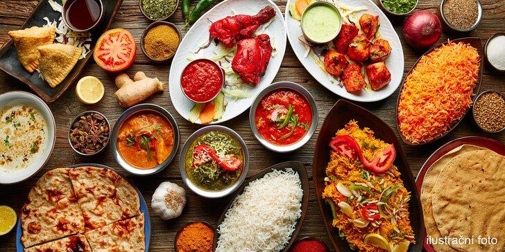 Indické speciality na Žižkově: tříchodové menu pro 1 nebo 2 osoby