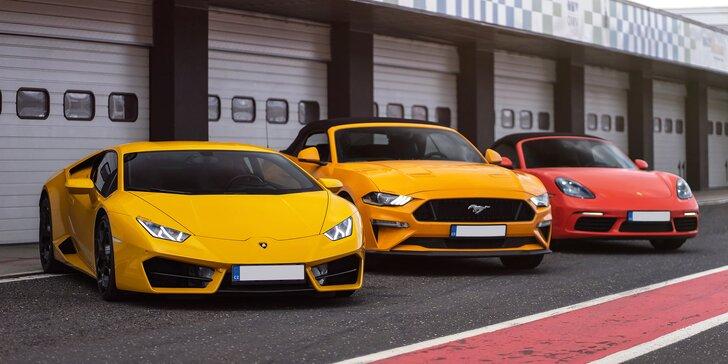 Zkroťte Lamborghini, Porsche nebo Mustanga na velkém okruhu v Mostě i Brně: až 5 kol jako řidič či spolujezdec