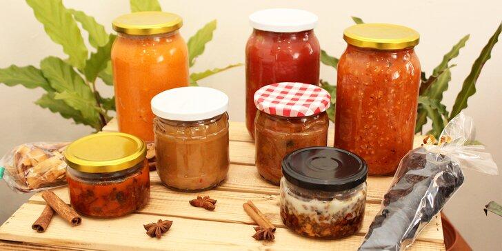 Dobroty ve skle: pečené vepřové maso, koleno či kachna i slaninové nebo chorizo džemy a cibulové chutney