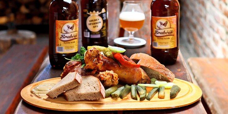 Prohlídka pivovaru s ochutnávkou piv, pečeným kolenem a pivním dárkem s sebou