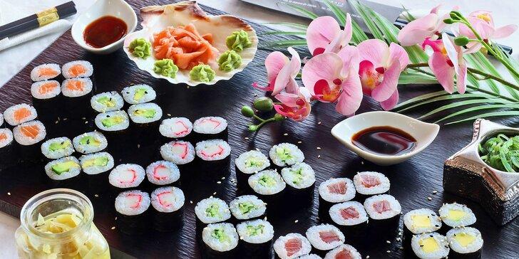Sushi sety se 40 až 56 kousky: maki, nigiri, tempura i speciální smažené rolky
