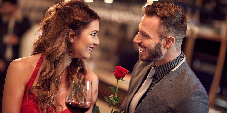 Dokonalá romantika: 3chodové menu a neomezený vstup do wellness pro dva