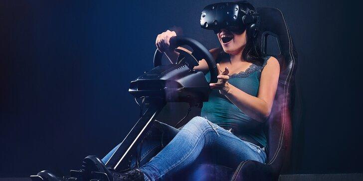 Virtuální realita a závodní simulátor pro 1–4 osoby: 60 minut zábavy