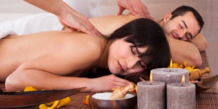 Láskyplné uvolnění ve dvou: 60minutová terapeutická párová masáž