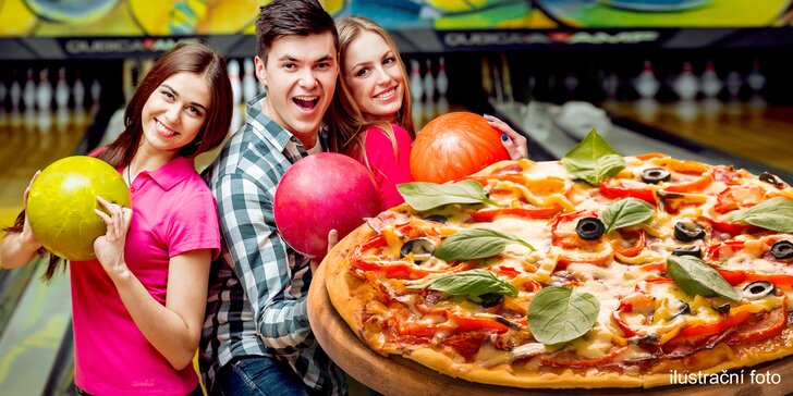 Zábava v BowlingZone: dráha na 120 min. až pro 8 hráčů a k tomu 1 pizza